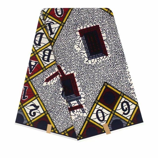 African Ankara Hollandais Wax Print Fabric 6Yards