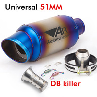 Universal 51mm Motorcycle exhaust pipe Muffler Escape Moto sc with DB killer AR Exhaust For R6 CBR100 Z900 GSXR750 S1000RR R25