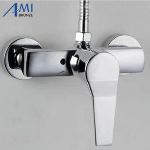 Bathroom faucet cold and hot bath tub ming mounted shower copper hot and cold shower faucet bathroom shower plumbing hardware kit copper three speed faucet hot and cold shower set bathroom faucet