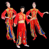2017 New Drum Dress Male And Female National Yangko Costumes Duo Turn Stage Performance Clothing Wholesale