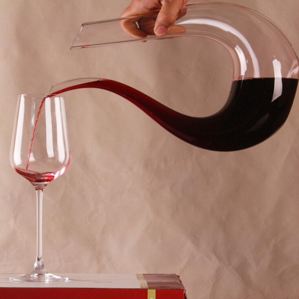 1 PC New Arrival Fashion Crystal Glass U shaped Horn Wine Decanter Wine Pourer Wine Container