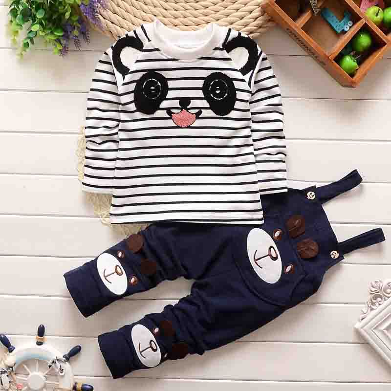 Baby sautumn rompers infant boys&girls jumpsuit baby Cute Cartoon bear cook suit Bib overall + long sleeve t shirt baby clothes winter newborn bear jumpsuit patchwork long sleeve baby rompers clothes baby boys jumpsuits infant girls clothing overall