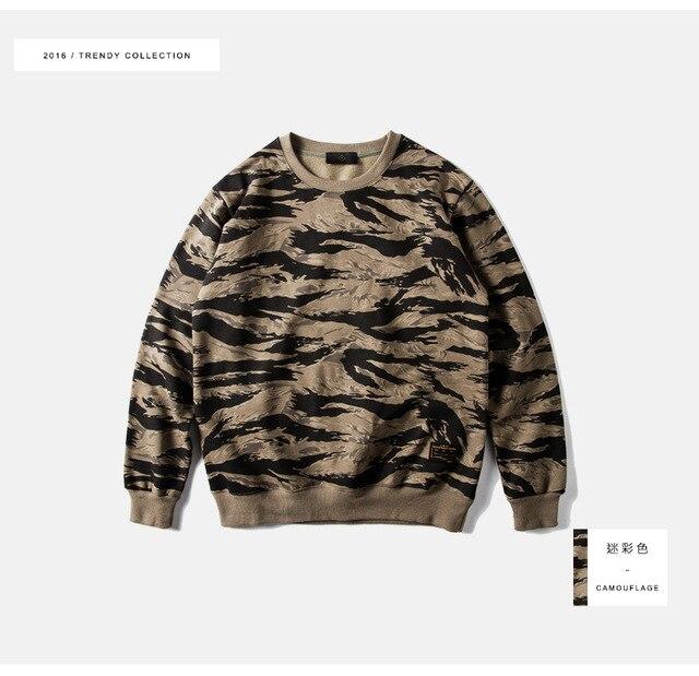 Мужская одежда   2016 осень зима тигровые полосы бархатные мужчины флис популярные логотип высокое качество круглый воротник флис Военной ветер