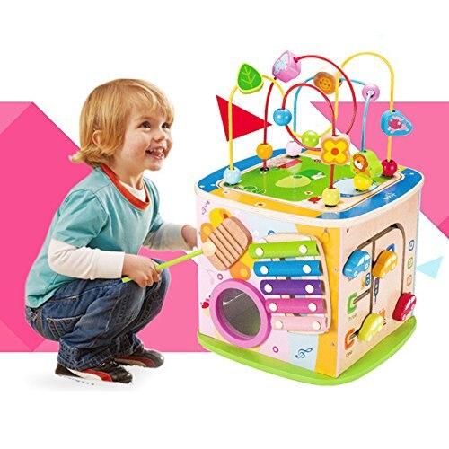 Boîte à trésor multifonction perle fil labyrinthe en bois jouet éducatif pour enfants fête des enfants cadeau grand volume développer l'intelligence