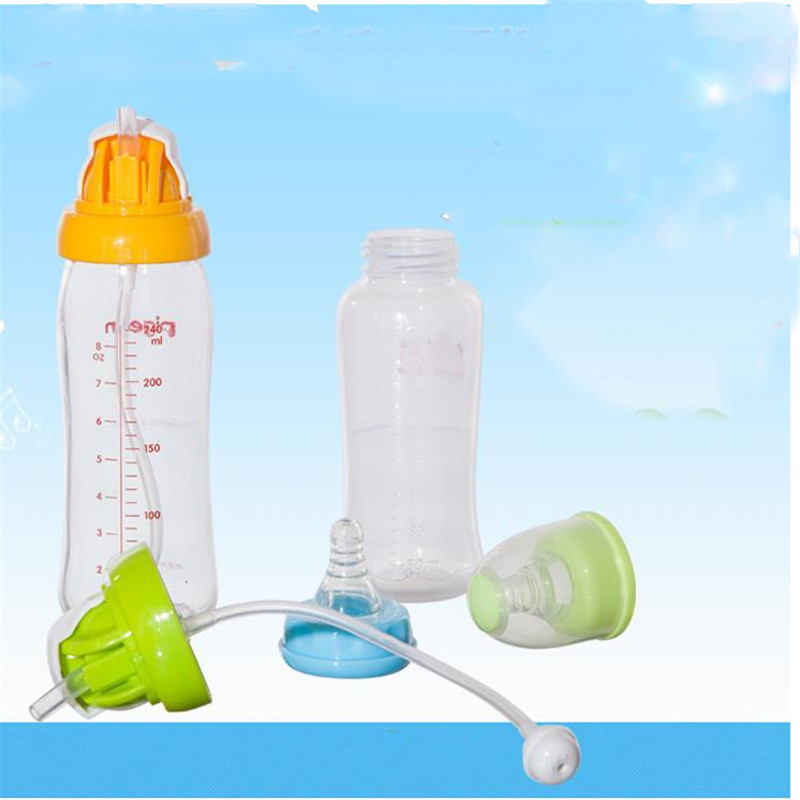 Baby Kids Wide Caliber Bottle Water Cup Straw Covers Straw Cup Caps Children's Portable Spill-Proof Bottle Drinks Straw Covers