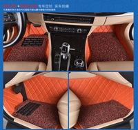 Myfmat custom foot leather CAR floor mats for VW BORA MAGOTAN BEETLE PHAETON TOUAREG TERAMOUT free shipping easy cleaning coffee