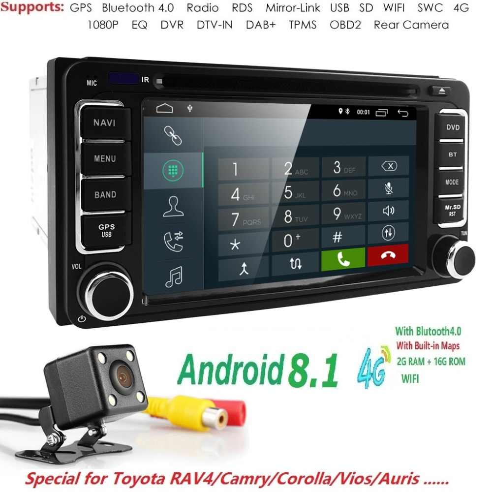 6201484e14a7e 2GB RAM 16GB ROM Android 8.1 2018 new 2 DIN Car DVD GPS PlayerFor Toyota  auto