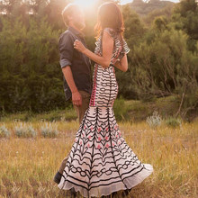 fe21128928ada Stripe Floral Runway Dress Promotion-Shop for Promotional Stripe ...