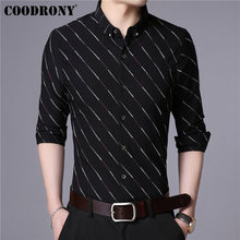 COODRONY Men Shirt Autumn New Arrival Striped Long Sleeve Cotton Shirt Men Business Casual Shirts Camisa Masculina Clothes 96029