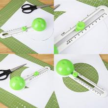 Круглый резак для бумаги Многофункциональный Круглый резак роторный бумажный нож ручной инструмент искусство Скрапбукинг фотографии Круглые DIY Изготовление открыток