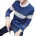 2016 Nuevos Hombres de la Marca de Lana de Los Hombres Suéter de Otoño Invierno O-cuello Grueso W2 Kintwear Suéter Suéteres de Navidad Para Hombre de Alta Calidad