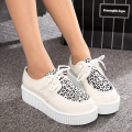 Women Creepers Fashion Flats Shoes Casual Lace Up Platform Suede Creepers Black Ladies Shoes
