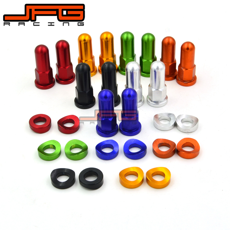 OFF ROAD MOTORCYCLE MOTOCROSS MX BIKE FOR KTM CRF YZF RMZ DRZ KXF GREEN RIM LOCK NUTS AND WASHERS SECURITY BOLTS