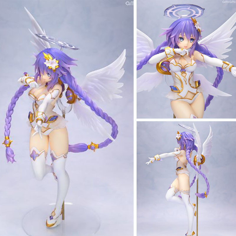 25cm Japanese Anime Hyperdimension Neptunia Figures Purple Heart Neptune PVC Action Toy Figures Model Toys Collectible Figurines