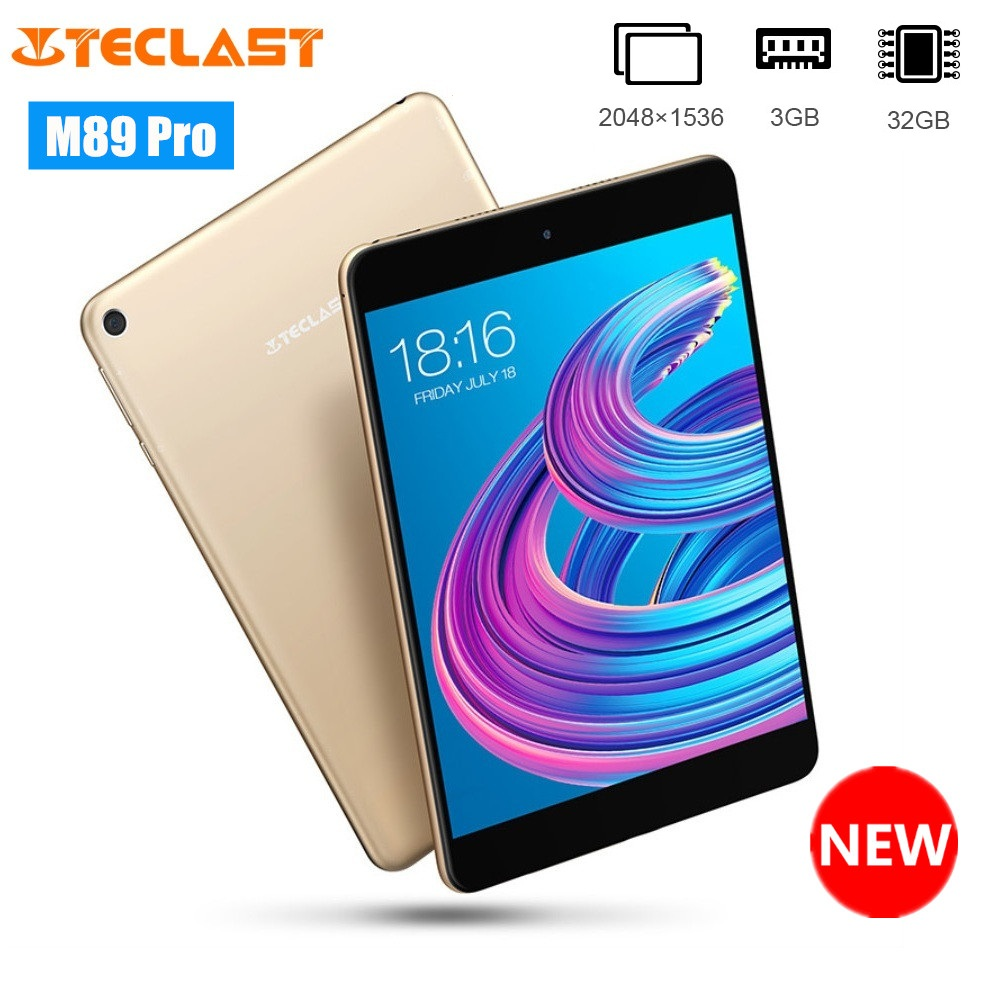Teclast M89 Pro 7.9 inch Tablet PC MTK Helio X27 Deca Core 2048*1536 3GB RAM 32GB 2.4GHz / 5.0GHz WiFi Slim Metal Android Tablet