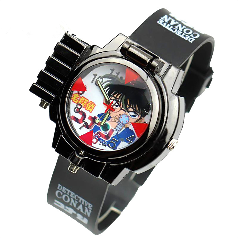 online buy whole interesting watches from interesting cool laser design watches student fashion children animation detective conan magnifier clock wrist watches interesting gift
