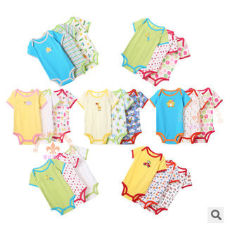5 piece/ lot Promotion New Cotton Children Baby Boys Girls Sets clothes children Romper climbing jumpsuit - Top Buy store