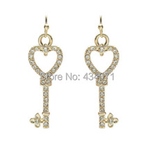 Wholesale jewelry wholesale manufacturers contracted golden key earrings A clearance sale without discount wholesale