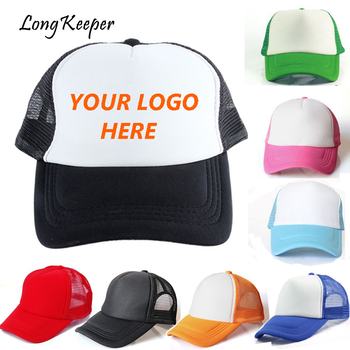 Factory Wholesale! Custom LOGO Hats Adult Child Snapback Embroidery Print Customize Cap Mesh Hats Gorra 20PCS/lot By Long Keeper