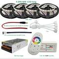 5 m 10 m 15 m 20 m 4 in1 RGBW Tira CONDUZIDA 5050 SMD DC12V DIODO EMISSOR de Luz flexível 60LED/m + 2.4G RF Controle Remoto + adaptador de Energia Kit