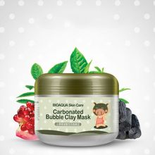 Oxygen Bubbles Carbonate Mud Mask Deep Clean and Clear Whitening Hydrating Bioaqua E2