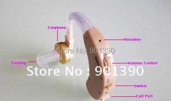 Mini BEHIND the EAR Digita Sound Voice aparelho Amplifier Deaf Hearing Aid  device Cyber Sonic TV hearing aids Power tone