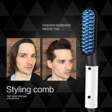 Multifunctional Professional Beard Hair Straightener Hairdressing Comb Straightening Brush Curler Electric Styler Man