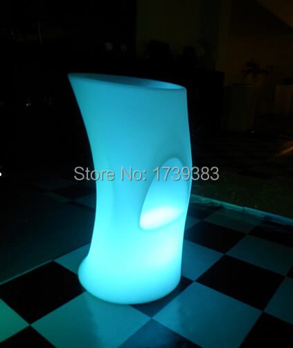 Led Luminous Furniture rechargeable High bar stool lights unbreakable bar stools KTV outdoor/indoor personalized high bar stool 2018 new fashion plus size lace embroidered dress women sexy round neck spring party gown big size chiffon mesh sleeves dresses