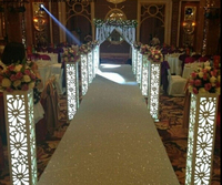 Hot Sale Fantasy Wedding Carved Pillar Banquet Road Lead Stand Decoration With LED Light Built In