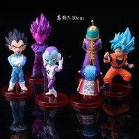 2018 6pcs/set 8~9cm Action Figures Dragon Ball Super vol.7 Trunks Vegetto Zamasu Super Saiyan Rose Goku Black Grand Priest Toys