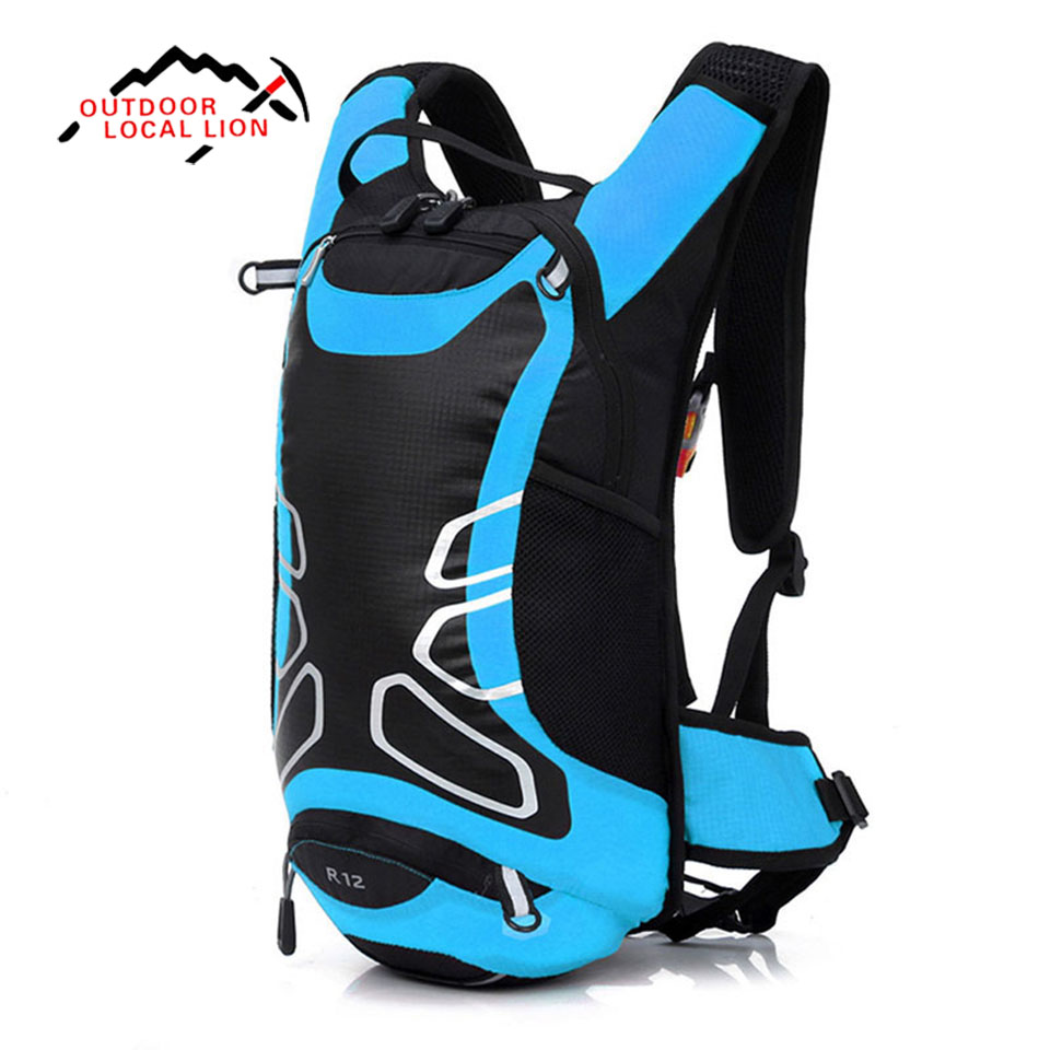 LOCAL LION Bicycle Bag Shoulder Backpack Ultralight Sport Riding MTB Hydration Backpack 12L Bike Bicycle Cycling Backpack roswheel mtb bike bag 10l full waterproof bicycle saddle bag mountain bike rear seat bag cycling tail bag bicycle accessories