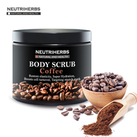 Neutriherbs Coffee Scrub Coconut Natural Oil Body Scrub For Exfoliating Whitening Moisturizing Reducing Cellulite Free Shipping