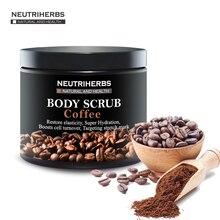 Neutriherbs Coffee Body Scrub Coconut Natural Oil Body Scrub For Exfoliating Whitening Moisturizing Reducing Cellulite 200g