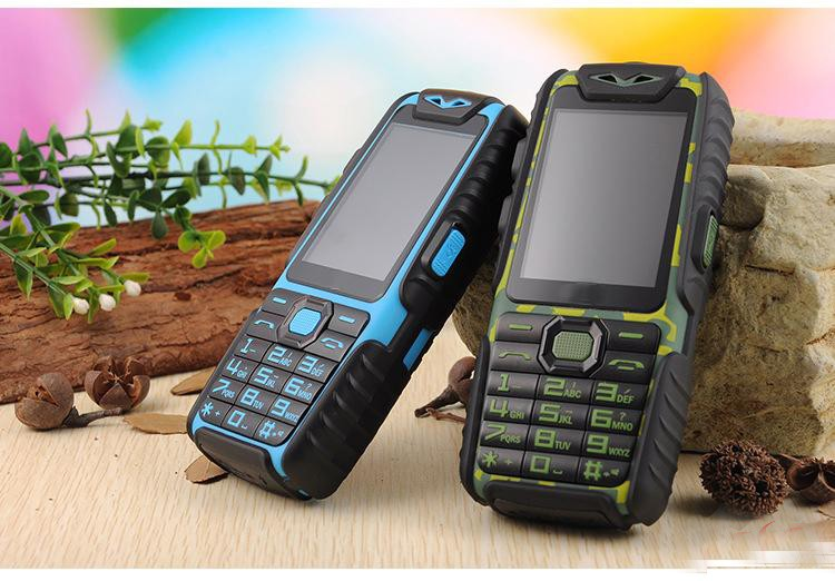 free shipping A6 Mobile Phone With Power Bank 9800mAh Dual Sim Card Shockproof Dustproof Cell Phone
