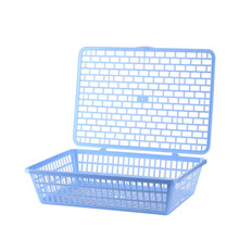 1 Pc Crate Basket | Box for Home or Office Storage And Organization with Handles Rectangular Stackable Dairy office supplies