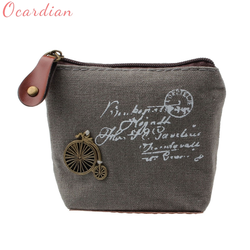 Ocardian Hot Sale Girl Retro coin case bag coin purse overwat Wallet Card Case Handbag wallet women donna Gift Eiffel Tower 0.55