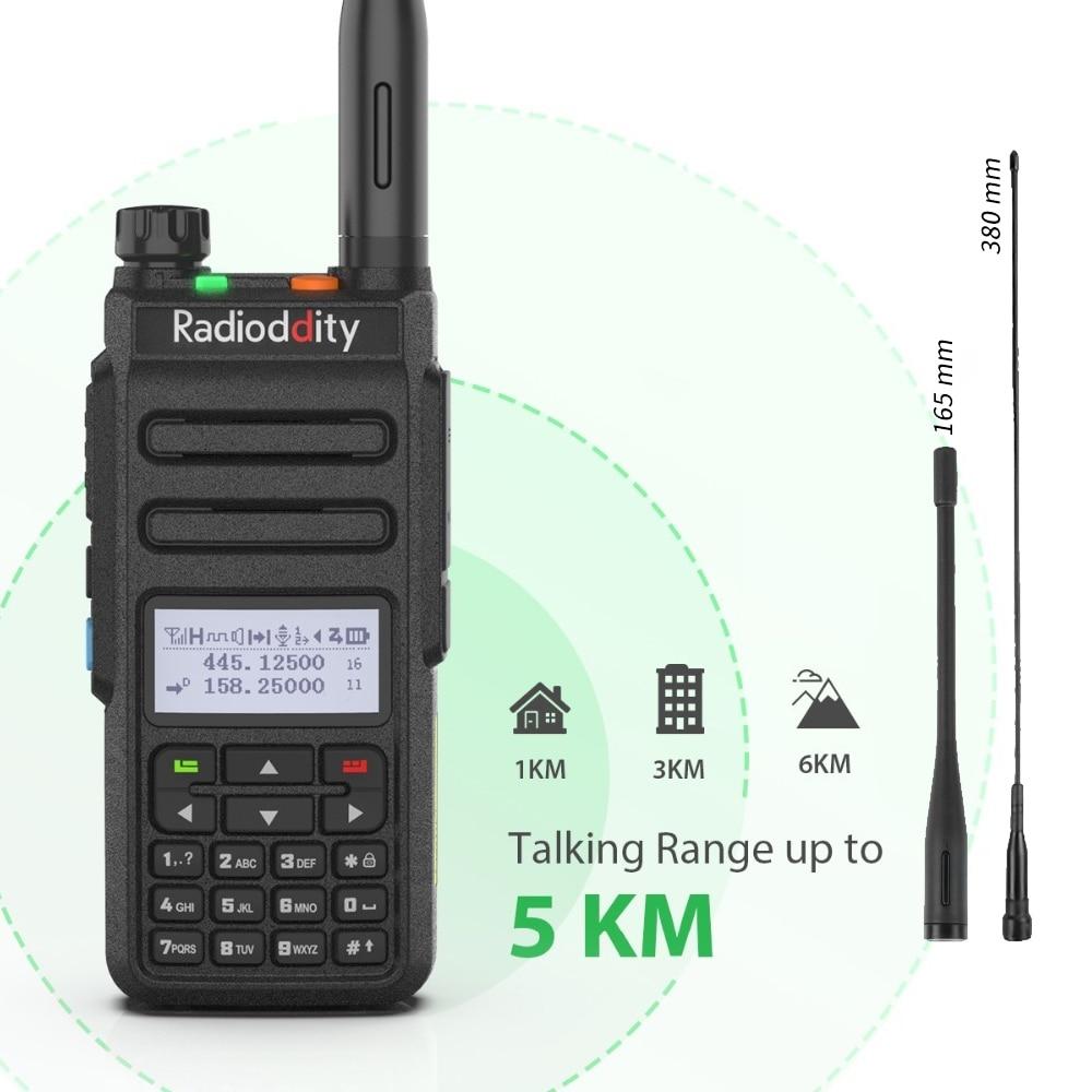 Radioddity GD-77 Dual Band Dual Time Slot DMR Digital Analog Two Way Radio 136-174 /400-470MHz 1024 Channels Ham Walkie Talkie