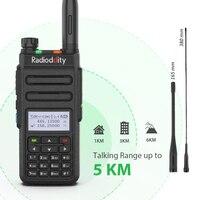 Radioddity GD 77 Dual Band Dual Time Slot DMR Digital Analog Two Way Radio 136 174 /400 470MHz 1024 Channels Ham Walkie Talkie