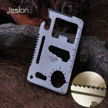 Jeslon Multi Tools 11 in 1 Multifunction Outdoor Hunting Survival Camping Pocket Military Knife With Bottle Opener