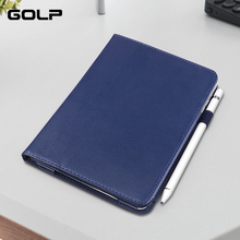 Flip Case for iPad Air 2 cover, GOLP PU Leather Stand Front Cover + back Holder Smart air case