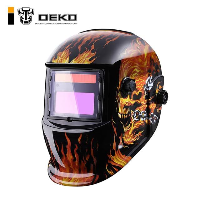 DEKO череп Солнечная Автоматическая затемнение MIG MMA электрическая Сварочная маска/шлем/сварочный колпачок/сварочный объектив для сварочного аппарата