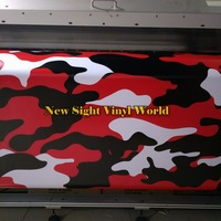 Jumbo Elite Red Camo Vinyl Wrap Car Body Film Camouflage Vinyl Car Wraps Bubble Free Car Wrapping