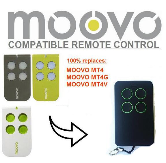 Moovo MT4,MT4G,MT4V compatible remote control rolling code 433mhz top quality proteco ptx433305 compatible replacement remote control 433mhz fixed code