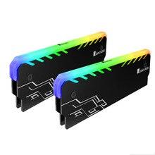 2 מחשב זיכרון RAM RGB Cooler גוף קירור קירור אפוד סנפיר קרינה לפזר עבור DIY מחשב משחק Overclocking MOD DDR DDR3 DDR4
