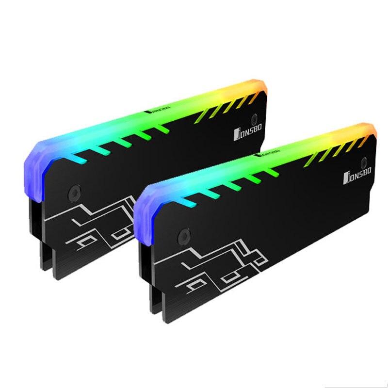 2 pc Mémoire RAM RGB Refroidisseur Dissipateur de Chaleur De Refroidissement Gilet Fin Rayonnement Dissiper Pour DIY PC Jeu Overclocking MOD DDR DDR3 DDR4