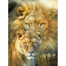 strong lion Diamond Painting Oil Painting Pictures By Numbers Poster Modular Pictures Modern Wall Panels Home Decor(China)