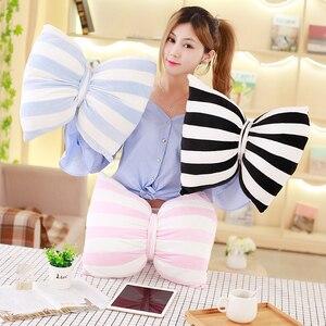Image 2 - かわいいスカイシリーズぬいぐるみムーン、スター雲ちょう結びぬいぐるみおもちゃソフトクッション素敵なベビー睡眠枕の装飾