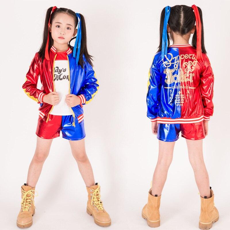 Vente Filles Harley Quinn Cosplay Costumes Halloween Enfant Commando
