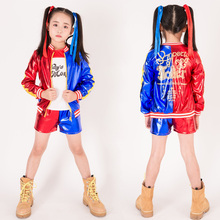 Girls Harley Quinn Cosplay Costumes Halloween Child Suicide Squad Villain Fancy Dress suicide squad harley quinn outfit cosplay halloween costumes