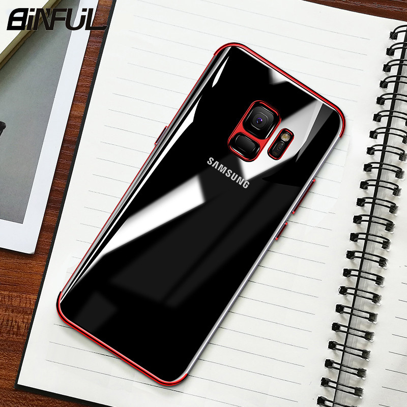 For Samsung Galaxy A7 2018 Case Cover Clear Soft Silicone Slim Plating TPU Back Cover For GalaxyA7 A5 A8 Star Lite Phone Case in Fitted Cases from Cellphones Telecommunications